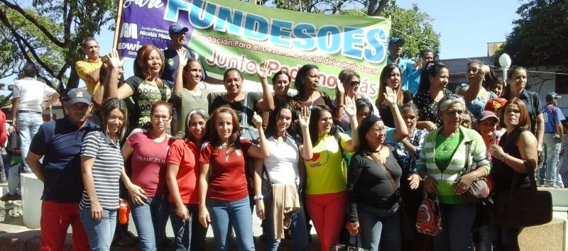 Sucrenses se concentraron en apoyo a la juramentación del presidente Nicolás Maduro.