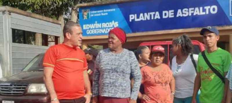 """Gobernador Edwin Rojas: Planta """"Pantoño"""" de Casanay produce 100 toneladas de asfalto diarias."""