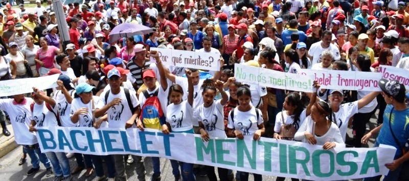 Pueblo de Sucre desbordó las calles en rechazo al informe de Bachelet.